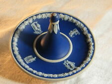 """Vintage Porcelain Blue Dipped """" Ring Holder"""" in the style of Wedgwood/ Adams ?."""