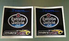 Team Estrella Galicia Marc VDS MotoGP Racing Team Decals / Stickers (X2)