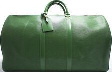 Louis Vuitton EPI KEEPALL 55 XL Reise Tasche Weekender Bag Grün Green SUPER