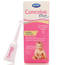 Conceive Plus Fertility Personal Lubricant Pre-Filled 3 Applicators Count Ct