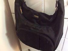 Travelon Black Shoulder Crossbody Anti-Theft Bag RFID. EUC