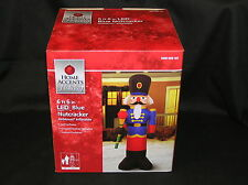 AIRBLOWN INFLATABLE 6 FT 6 IN LIGHTD LED BLUE NUTCRACKER TOY SOLDIER GEMMY NYLON