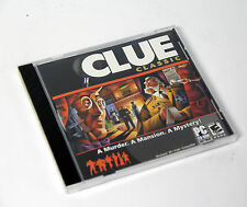 Clue Classic Murder mansion mystery Windows PC Who Dunnit Game New Sealed
