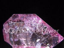 1 RARE STARBRARY PINK/ROSE AURA HERKIMER DIAMOND QUARTZ CRYSTAL! HERKIMER NY MED