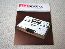 Akai GXC-310D Compact Cassette deck brochure catalogue