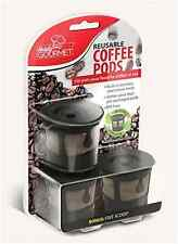 3X Reusable Coffee Pods Handy Gourmet Stainless Steel Mesh Filter Non BPA Kcup