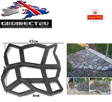 NEW 2016 UK 43cm Heavy Duty Resin Garden Path Making Mould Patio Driveway Paving