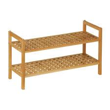 SALVASPAZIO scarpiera noce legno 2 mensole Storage Organizer compatto robusto NUOVO