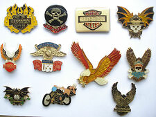 SALE VINTAGE HARLEY DAVIDSON MOTOR CYCLE BIKE ROCKER US PIN BADGE JOB LOT BUNDLE