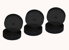 8PCS Black Carbon Fiber Speaker Isolation 40x10mm Spike Base Pad Shoe Feet Hifi