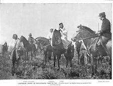 MAROC FES SULTAN MOULAI-HAFID CHASSE AU LIEVRE ILLUSTRATION 1916