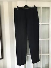 John Lewis Wool Linen Navy Mens Tailored Fit Trousers 36 Long Brand New RRP £80