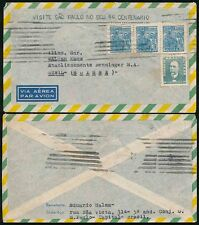 BRAZIL 1954 SAO PAULO 400 MACHINE CANCEL INVERTED to SWITZERLAND AIRMAIL