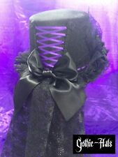 Gothic-Hats Zelena velvet look hat Purple Corset, Steampunk, Halloween, Whitby