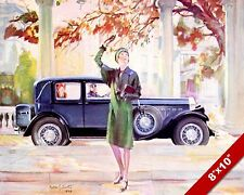 1928 PIERCE ARROW CLASSIC AMERICAN MADE CARS PAINTING VINTAGE CAR AD ART PRINT