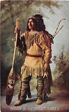 B28/ Native American Indian Postcard c1910 Indian of the Great Lakes Region 4