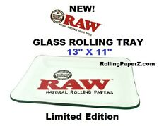 "NEW! Raw® Rolling papers - Very Limited Edition - GLASS ROLLING TRAY 13"" X 11"""