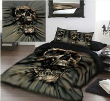 Skull Rip Thru Double size Duvet set by David Penfound - Gothic  + FREE GIFT