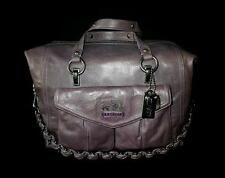 NEW COACH Limited Ed TEXTURED PURPLE LEATHER LG AUDREY TOTE BAG SHOPPER SATCHEL