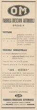 Z3142 Veicoli OM - Fabbrica Bresciana Automobili - Pubblicità d'epoca - 1932 Ad