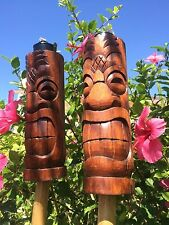NEW Pineapple Head Tiki torch set bar mug Smokin Tikis Hawaii Seconds Fb3317