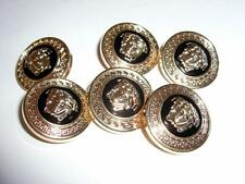 "6 GIANNI VERSACE VERSACE MEDUSA HEAD GOLD METAL BUTTONS-6x1"" BUTTONS-NEVER USED"