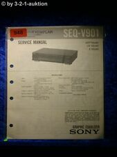 Sony Service Manual SEQ V901 Graphic Equalizer  (#0948)
