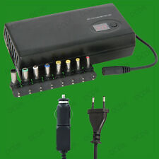 90W Universal Laptop Notebook Power Adaptor, USB, Euro Plug & Car Charger 12-24V