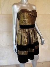 Miss Sixty New Bronze Strapless Cocktail Party Clubwear Dress Sz 8 NWT