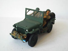 GATE CODE 3 ARMY WILLYS JEEP & FIGURES WW2 EXCELLENT (BS1230)