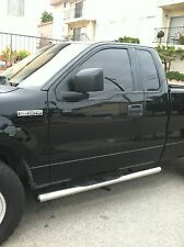 """FORD F150 SINGLE CAB MIRROR FINISH STAINLESS STEEL 4"""" OVAL NERF BARS 2004-2008"""