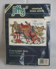 Sunset  Jiffy  counted cross stitch  Country Music