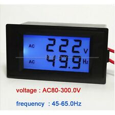 AC Voltmeter/Frequency Panel Meter Power 110V 220V 50Hz/60Hz Digital LCD TESTER