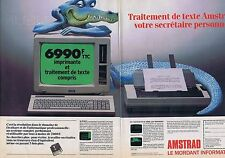 PUBLICITE ADVERTISING 114 1986 AMSTRAD le mordant informatique (2 pages)