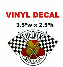 1 Checker Cab Flags Vinyl Decal