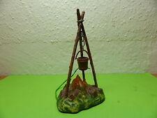 Lagerfeuer mit Beleuchtung, Hartplastik, Höhe ca. 11 cm
