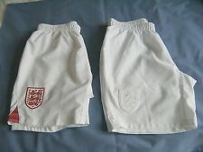 TWO PAIRS OF BOY'S UMBRO ENGLAND SHORTS AGE 11/12 YEARS (158 CMS )