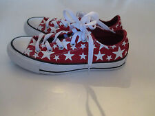Converse All Star Chuck Taylor Low Red and White  Canvas Sneakers Shoes -New