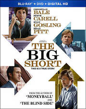 The Big Short (Blu-ray/DVD, 2016, 2-Disc Set, Includes Digital Copy)
