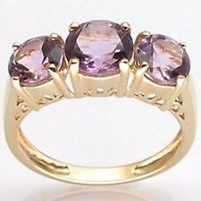 2.24cts AMETHYST 9k solid yellow gold ring - Valentine's day