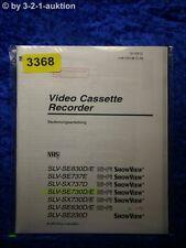 Sony Bedienungsanleitung SLV SE730D SX730D SE830D SE230D SE630D SX737 /E (#3368)