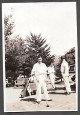 VINTAGE PHOTOGRAPH 1936-1945 HACKER GOLFING BUDDIES CLUBS BAGS DRIVER OLD PHOTO