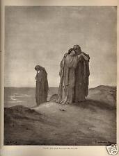 Stampa Antica = 1870= BIBBIA= NAOMI E LE COGNATE= Gustave DORE' = Old Print