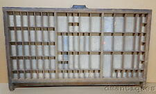 Antique Colding Wood Letterpress Type Print Drawer Tray Miniature Craft Display