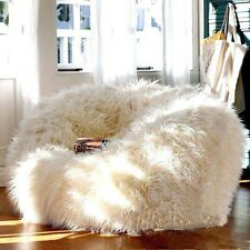 Long Hair Woolly Style Faux Fur Beanbag Living Room Bedroom Chair Cover