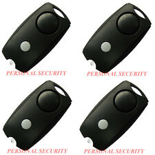 4 x PERSONAL SECURITY 120dB LOUD Panic Alarm,Safety Guard Siren LED torch, BLACK