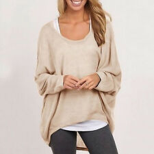Women Loose Blouse Long Sleeve Shirt Ladies Oversized Batwing T-Shirt Jumper Top