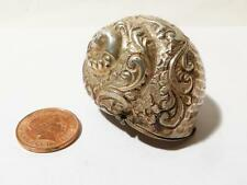 Antique Victorian 1898 Silver NAUTILUS Sea SHELL Trinket Pill SNUFF Box SUPERB