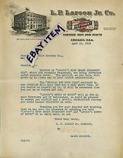 1919 color letterhead CHEWING GUM Chicago ILLinois L. P. LARSON JR. Co PEPTOMINT