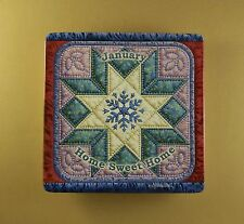 Seasons of Home Quilt Plate HOME SWEET HOME #1 January Bradford Exchange